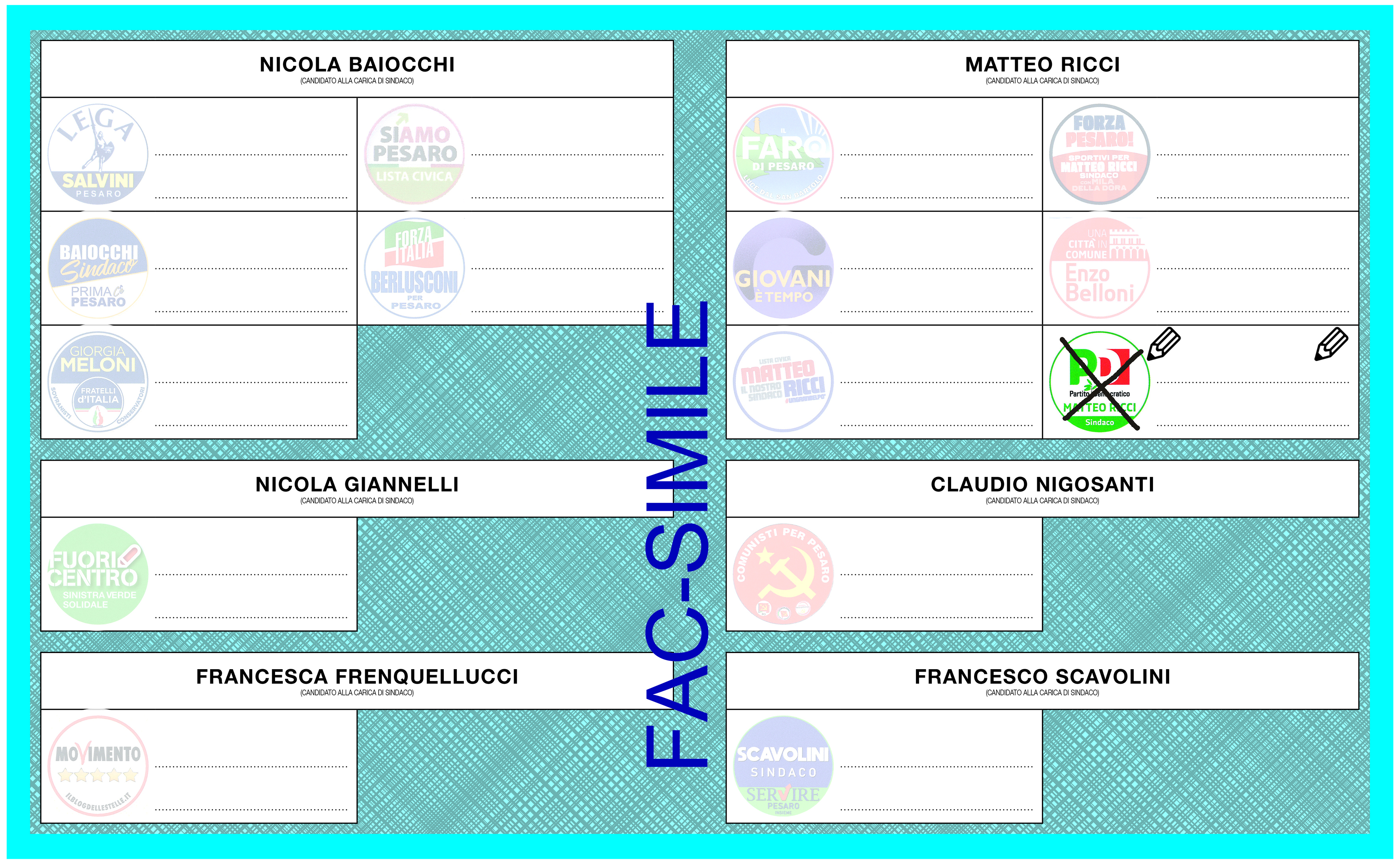 Sorteggiato l'ordine delle liste sulla scheda elettorale