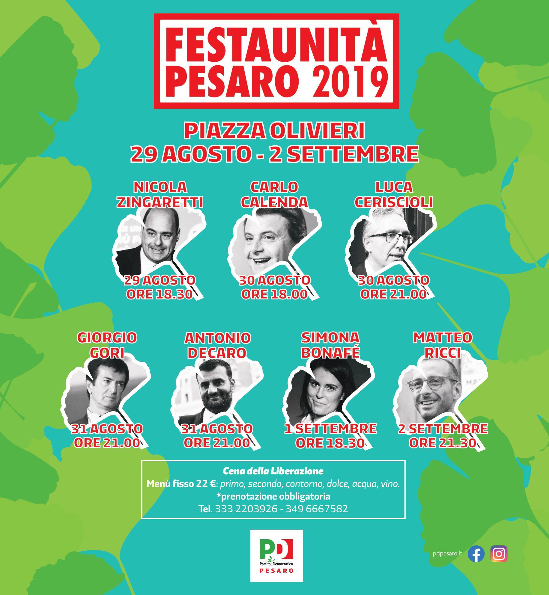 Presentato il programma della Festa