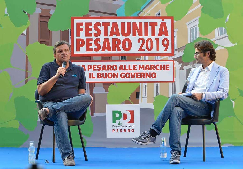 Carlo Calenda a Pesaro contrarissimo al governo nascente, lancia il suo movimento e esce dal Partito Democratico